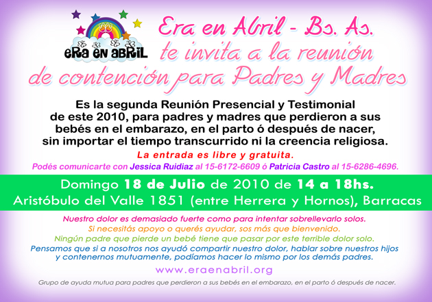 era en abril 2da reunion