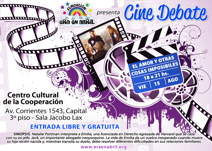 Invitación CINE DEBATE Fund. Era en Abril