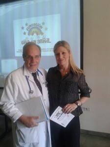 Jessica Ruidiaz, presidenta de Fund. Era en Abril junto al Dr Alejandro Jenik.